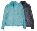 Ladies 1/4-Zip Snow Tipped Fleece Jacket, Assorted Sizes & Colors