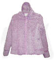Ladies Full Zip Snow Tipped Fleece Hooded Jacket, Assorted Sizes & Colors