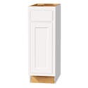 12 x 34-1/2 x 24-Inch Dwhite Painted White 1-Drawer Base Cabinet