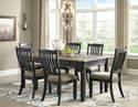 Tyler Creek - Black/Gray Rectangular Dining Table With 6 Chairs