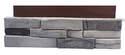 23.5-Inch X 6-Inch Adorn Flat Colorado Gray Stone Veneer 4-Piece