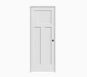 30 x 80-Inch Craftsman 3-Panel Prehung Door, Left Hand