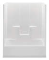 60 x 32 x 72-Inch White Tub/Shower With Left Side Drain