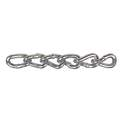 #4 Zinc Twist Link Low Carbon Steel Machine Chain, Per Foot