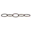 #10 Oil Rubbed Bronze Swag Decorative Oval Chain, Per Foot