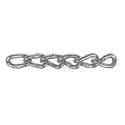 2/0 Zinc Twist Link Low Carbon Steel Machine Chain, Per Foot