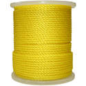 3/8-Inch Yellow 3-Strand Twisted Polypropylene Rope, Per Foot