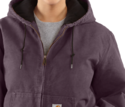 Ladies' Small Dusty Plum Sandstone Active Jacket With Quilted Flannel