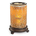 Candle Warmers Etc. GMCAM Crackled Amber Glass Illumination