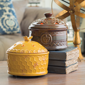 Alternate Image for Candle Warmers Etc. WCFDL Chestnut Brown Fleur De Lis Aire Candle Warmer