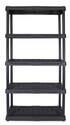 36 x 18 x 72-Inch 5-Tier Black Heavy Duty Shelf