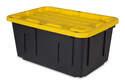 40-Gallon Black Polypropylene Storage Tote