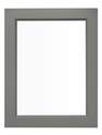 21-Inch X 27-Inch Light Gray Framed Mirror For Euro Combination