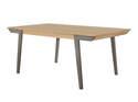 Nogales Coastal Gray Wooden Dining Table
