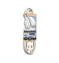 12-Foot 13-Amp White Cube Tap Indoor Extension Cord