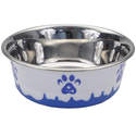 54-Ounce Blue Maslow Non-Skid Paw Design Dog Bowl