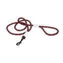 6-Foot K9 Explorer Berry Reflective Braided Rope Snap Dog Leash