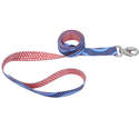 1-Inch X 6-Foot Sublime Blue Diamond Dots Dog Leash