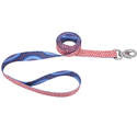1-Inch X 6-Foot Sublime Dots Blue Diamond Dog Leash