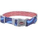 3/4 x 12-Inch Sublime Blue Diamond Dots Adjustable Dog Collar