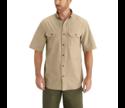 Medium Dark Tan Chambray Short Sleeve Shirt