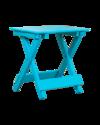Aruba Blue & Slate Gray Folding Poly End Table