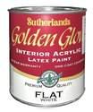 Quart White Flat Pastel Base Golden Glow Latex Interior Paint