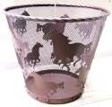 Metal Wire Horse Waste Basket