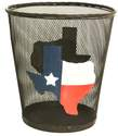 Texas Map Metal Wired Basket