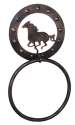 Copper Finish Metal Horse Towel Ring