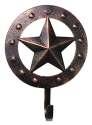 Copper Finish Single Hook Metal Star