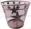 Metal Wire Star Waste Basket