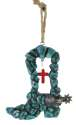 Turquoise Boot Ornament