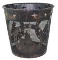 Metal Barrel Racer Waste Basket