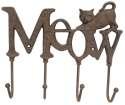 Cast Iron Meow Hooks