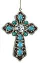 Blue Beads Cross Ornament