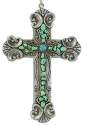 Turquoise And Silver Cross Ornament
