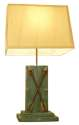 Arrow On Wood Block Desk Lamp With Shade