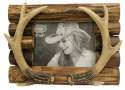 7 x 5-Inch Antler On Wood Photo Frame