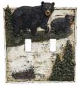 Bear On Birch Double Switch Cover
