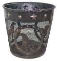 Copper Finish Metal Horse Waste Basket