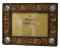4 x 6-Inch Tooled Flower Photo Frame