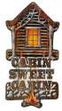 Die Cast Metal Cabin Sign