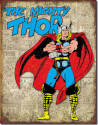 Marvel Comics The Mighty Thor Retro Cover Panels Tin Sign