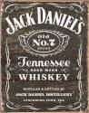 Jack Daniels Old Number 7 Brand Tennessee Sour Mash Whiskey Weathered Logo Tin Sign