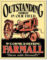 Outstanding In Our Field Mccormick-Deering Farmall Outstanding Vertical Tin Sign