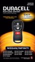 Nissan/Infinity Keyless Entry Remote