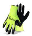 Large V2 Flexi-Grip High-Visibility Green Knit Glove With Latex Palm, 3-Pack