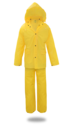 3-Piece Large Yellow Lined PVC Rain Suit