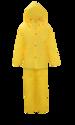 3-Piece 2x-Large Yellow Lined PVC Rain Suit
